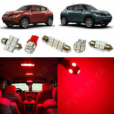 6x Red LED lights interior package kit for 2011-2014 Nissan Juke NJ1R