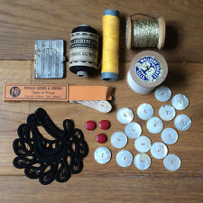 Lot de Mercerie - Fil Boutons Aiguilles Ruban marquage de linge - Sewing thread