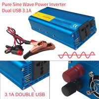 Spannungswandler 800w 2000w Reiner Sinus Wechselrichter Inverter 12V auf 230V