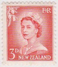 (NZJ73) 1955 NZ 3d red QEII MUH