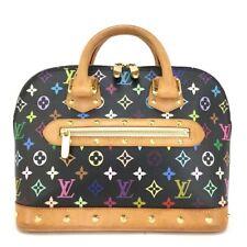 100% Authentic Louis Vuitton Monogram Multicolor Alma Tote Hand Bag Purse /109EA