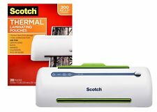 Scotch Thermal Laminator 2 Roller System Amp Laminating Pouches 89 X 114