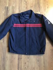 Nautica Hidden Hood Full Zip Mesh Lined Windbreaker Jacket Coat Men's Large