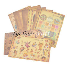 Vintage Lomo Style Stickers Decals Scrapbooking Diary Card DIY Decor 10 Sheets