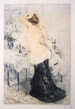 MANUEL ROBBE Signed 1906 Original Color Aquatint/Drypoint