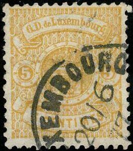 Luxemburg Luxembourg 1875 Wappen 5c. gestempelt, Michel:30 geprüft