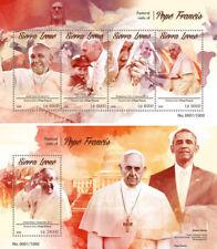 Pope Francis Religion Vatican Obama US Presidents Sierra Leone MNH stamp set