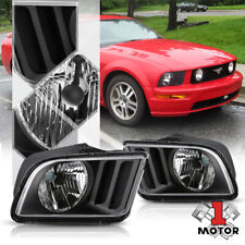 Black Housing Headlight Clear Turn Signal Reflector for 05-09 Ford Mustang Pony