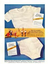 1958 Carter's Dacron Mesh Underwear T-Shirts Neva-Vex Front Briefs Print Ad