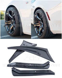 For 16-Up Camaro | GM Extended Texture BLACK Front & Rear Splash Guards Mud Flap
