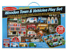 Melissa & Doug Deluxe Wooden Town And Vehicle Play Set - 38 Pieces