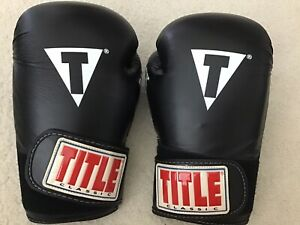 Title Classic Boxing Gloves,Black Max,Air, 14 Oz. Excellent Cond.
