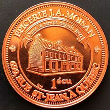 1988 Lower Canada J.A Moisan Rue St Jean Quebec 1 Ecu Token with COA