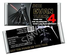 Star Wars Darth Vader - Candy Bar Wrappers - Birthday Favors - Set of 12