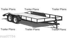 #1 TRAILER PLANS- 8X18 Flatbed Tandem Utility Trailer Plans,Instructions,BOM,DIY