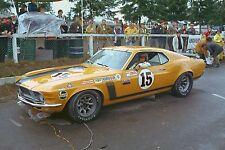 Ford Mustang Boss 302 & Parnelli Jones - 1970 Trans-Am race Kent, Wash. – photo