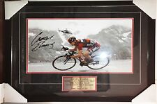 PROFESSIONALLY FRAMED CADEL EVANS AUTOGRAPHED PHOTO PRINT.