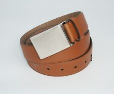 Burberry Men's George Bridle Trench Grained Leather Belt, Tan, MSRP $375