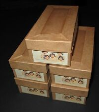 """♚REPLACEMENT MADAME ALEXANDER DIONNE QUINTUPLET BOXES FOR 7"""" COMPOSITION DOLLS"""