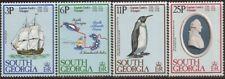 South Georgia - 1979 Captain James Cook Voyages - 4 Stamp Set - Scott #52-5
