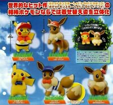 TOMY Pokemon Let's Go Adventure Pikachu and Eevee Mini Figure Gashapon x5
