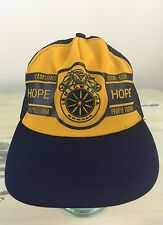 UNION TEAMSTERS - Vtg 70s-80s Blue & Yellow Snapback Mesh Trucker Hat