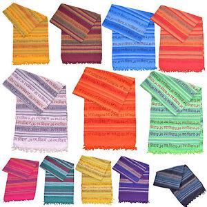 Webstuhldecke Mantra XXL Tagesdecke Sofaüberwurf Bettüberwurf Nepal Yoga Decke *