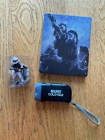 Call of Duty Modern Warfare Cold War steelbook collectible figurine LED torch