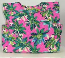 NWT Vera Bradley Pleated Tote TROPICAL PARADISE Shoulder Bag Work Baby
