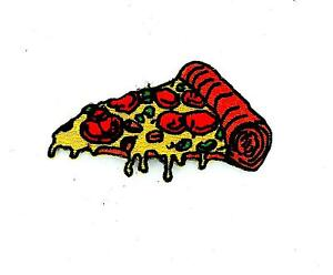 Patch patches embroidered iron on backpack biker pizza slice  badge