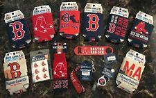 Mlb Boston Red Sox Koozies Bottle Opener Knit Cooler Badge Holder Key Strap New