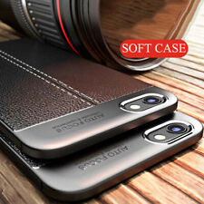 For LG V30 G6 G7 Q6 Plus Shockproof Leather Skin Rubber TPU Phone Case Cover