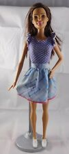 Barbie Fashionista Teresa Doll W/ Cute Dress & White Tennis Shoes
