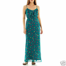 I 'Heart' Ronson Floral Fleur Tulip Maxi Dress Junior Size L MSRP $66.00 New