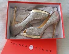 Ivanka Trump Maggie 2 Women 7.5 M / 38 Gold Silver Pump High Heels Dress Shoes