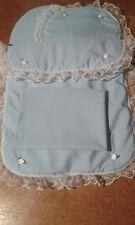 Quilt Pillow Sheet and Mattress for Silver Cross Roamer/Surf Dolls Pram Blue