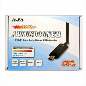 NEW ALFA AWUS036NEH Long Range WIRELESS 802.11b/g/n Wi-Fi USBAdapter