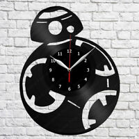 BB8 Star Wars Vinyl Record Wall Clock Decor Fan Art 12'' (30cm) Wanduhr 217