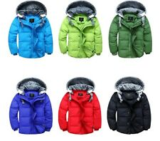 Boys Winter Coat / Gilet 2 Way Casual Hood Duck Down Trendy Long Age Size