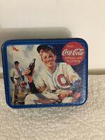 Coca Cola Collectible Baseball Tin Canister 1995