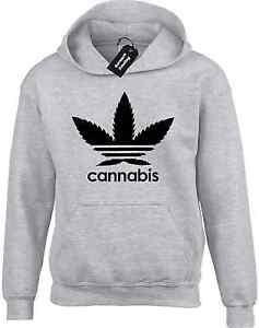 CANNABIS HOODY HOODIE LEAF DRUG WEED SPLIFF MARIJUANA GREAT GIFT