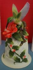 Noble Excellence Porcelain Hummingbird Bell Dillard's Exclusive In Original Box
