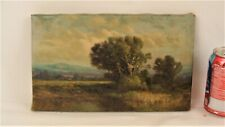 """Antique Herbert Fish """"A Summer Day"""" Landscape Oil Painting"""