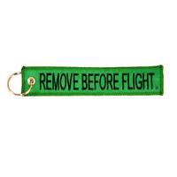 Remove Before Flight Key Chain Green pilot aviation