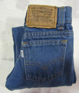 Levis Strauss 20 X 15 Sz 5 Slim Baby Blue Jeans 219 Heavy Denim Cotton Made USA