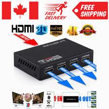 Ultra HD 4K HDMI Splitter 1X4 Port 3D UHD 1080p 4K*2K Video HDMI Switch Switcher