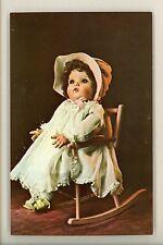 Dolls postcard Mme Alexander Named Baby McGuffy ca 1940 Rocking Chair Organdy