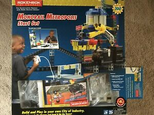 Rokenbok System RC Monorail Metropolis kit with box, Not touched since 2019