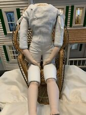 """Reproduction Bru Doll Body 21.5 """" Leather Body & Bisque"""