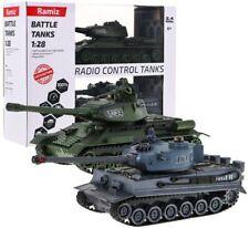 T34 vs German Tiger 103 TANK 2x Panzerkampfwagen 2x fernbedienung Kampfpanzer